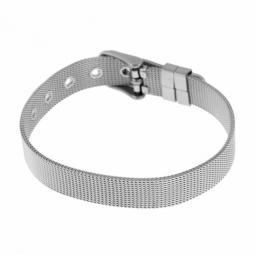 Bracelet en acier, maille milanaise