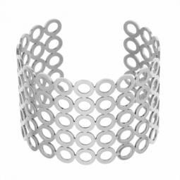 Bracelet manchette en acier