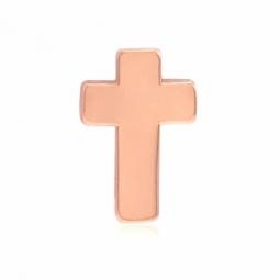 Charm en acier rose, croix