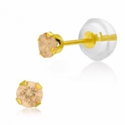 Boucles d'oreilles en or jaune serties de Swarovski Zirconia jaune