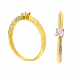 Bague en or 2 ors  et diamants