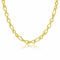 Collier en or jaune, maille infini