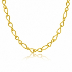 Collier en or jaune, maille infini