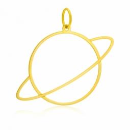 Pendentif en or jaune, planète