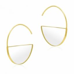 Boucles d'oreilles en or jaune et plexiglass