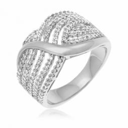 Bague femme argent et diamant