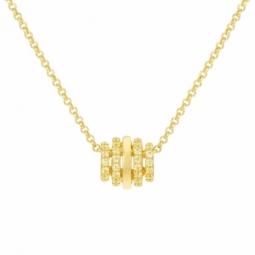 Collier en argent doré, oxydes de zirconium