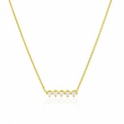 Collier en or jaune et oxydes de zirconium