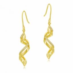 Boucles d'oreilles en plaqué or et oxydes de zirconium