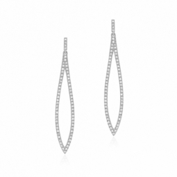 Boucles d'oreilles en or gris et diamants