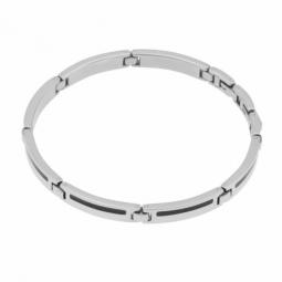 Bracelet en acier et carbone
