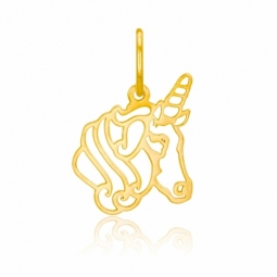 Pendentif en or jaune, licorne