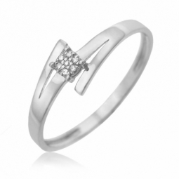 Bague en or gris, diamants