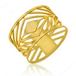 Bague en or jaune, ajourée