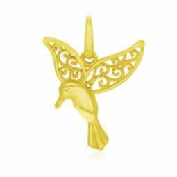 Pendentif en or jaune, colibri