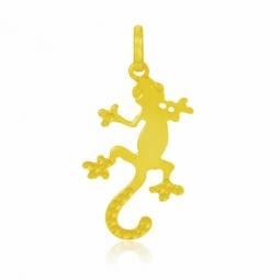 Pendentif en or jaune rhodié, gecko