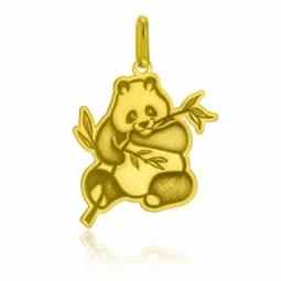 Pendentif en or jaune, panda