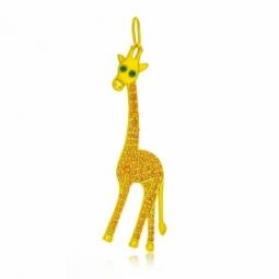 Pendentif en or jaune et oxydes de zirconium, girafe