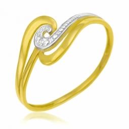 Bague en or jaune rhodié