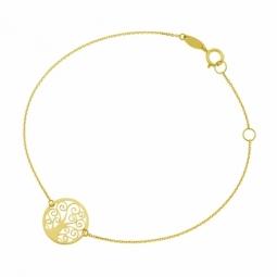 Bracelet en or jaune, arbre de vie