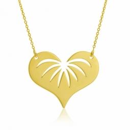 Collier en or jaune, coeur