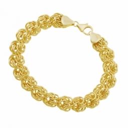 Bracelet en or jaune, maille royale