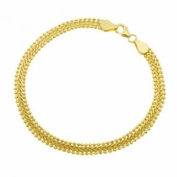 Bracelet en or jaune, appliques boules