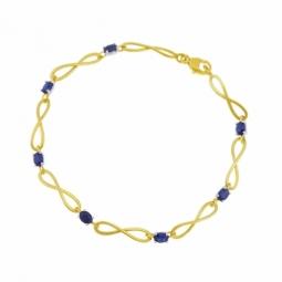Bracelet en 2 ors et saphirs, infini