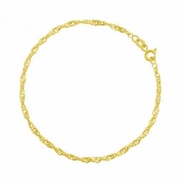 Bracelet en or jaune maille singapour
