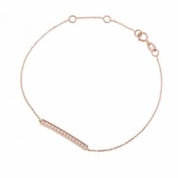 Bracelet en or rose et oxydes de zirconium