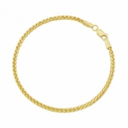 Bracelet en or jaune, maille palmier carré