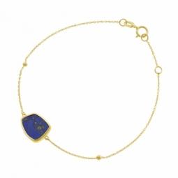 Bracelet en or jaune et lapis-lazuli