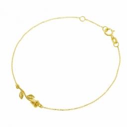 Bracelet en or jaune, rose