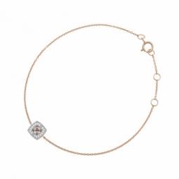Bracelet en or rose et rhodié, diamants blancs et bruns