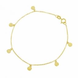 Bracelet en or jaune, pampilles