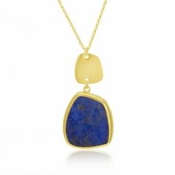 Collier en or jaune et lapis-lazuli