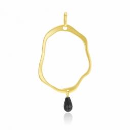 Pendentif en or jaune et onyx