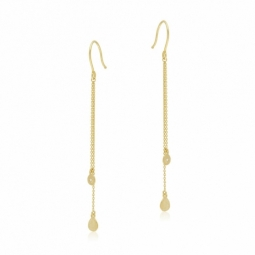 Boucles d'oreilles en or jaune et oxyde de zirconium