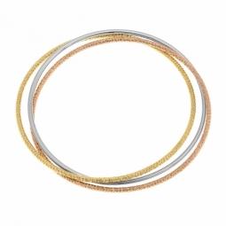 Bracelet jonc en acier 3 fils