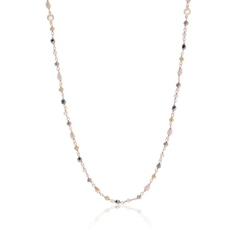 collier perle rose le manege a bijoux