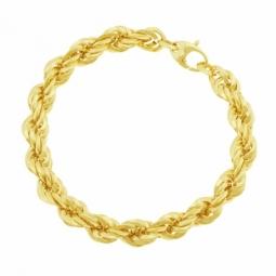 Bracelet en or jaune maille corde