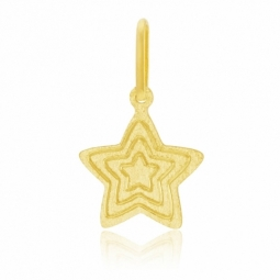 Pendentif en or jaune, étoile