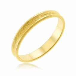 Alliance en or jaune fantaisie, 3mm