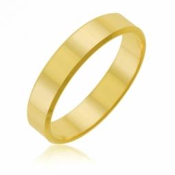 Alliance en or jaune ruban, 4mm