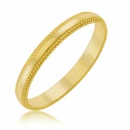 Alliance en or jaune fantaisie , 2.5mm