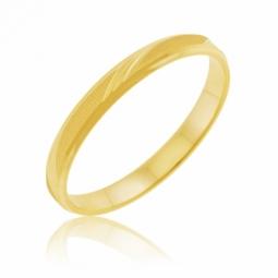 Alliance en or jaune satiné 2.5mm