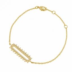 Bracelet en plaqué or et oxydes de zirconium