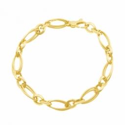 Bracelet en or jaune maille fantaisie