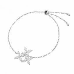 Bracelet en argent rhodié et oxydes de zirconium