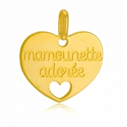 Pendentif en or jaune, mamounette adorée